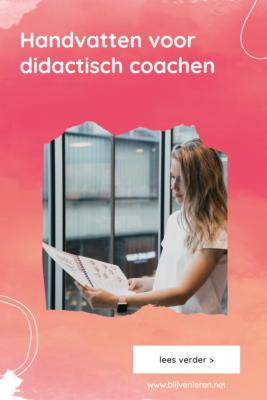 Handvatten didactisch coachen Blijven Leren