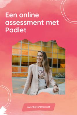 Online assessment Padlet Blijven Leren