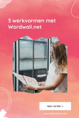 3 werkvormen wordwall Blijven Leren