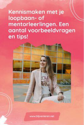 Kennismakingsgesprek loopbaan- of mentorleerling Blijven Leren